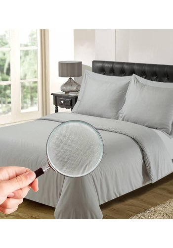 The Luxury Home Collection Bettbezug Luxus Athen Silbergrau