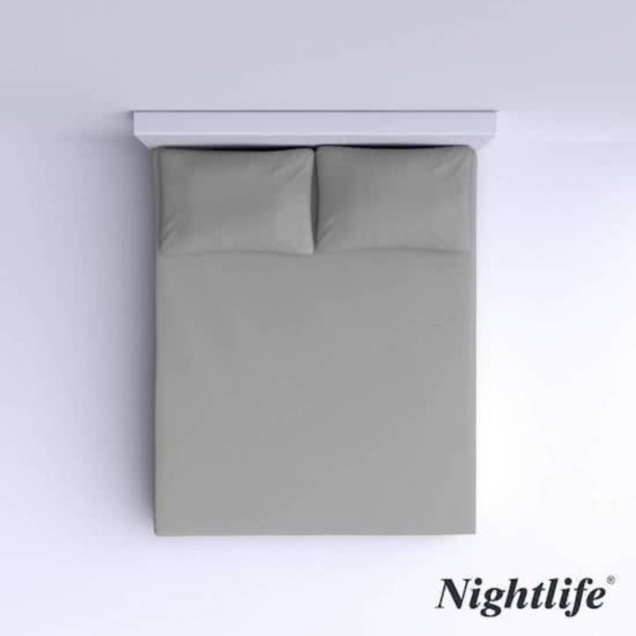 Glattbaumwolle Spannbetttuch 180x200cm - Grau