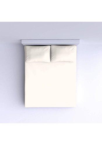 Nightlife Drap-housse en coton lisse 90x200cm - Blanc Cassé