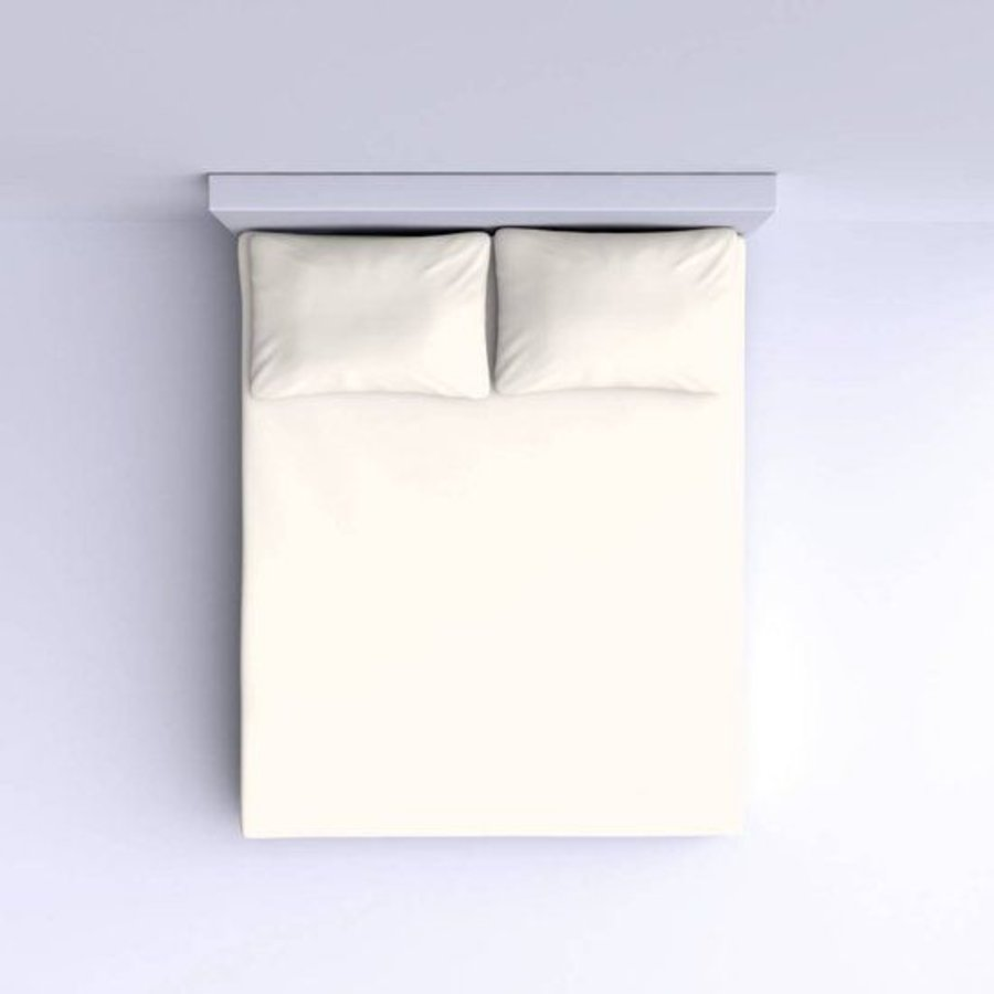 Glattes Baumwoll Spannbetttuch 90x200cm - Off White