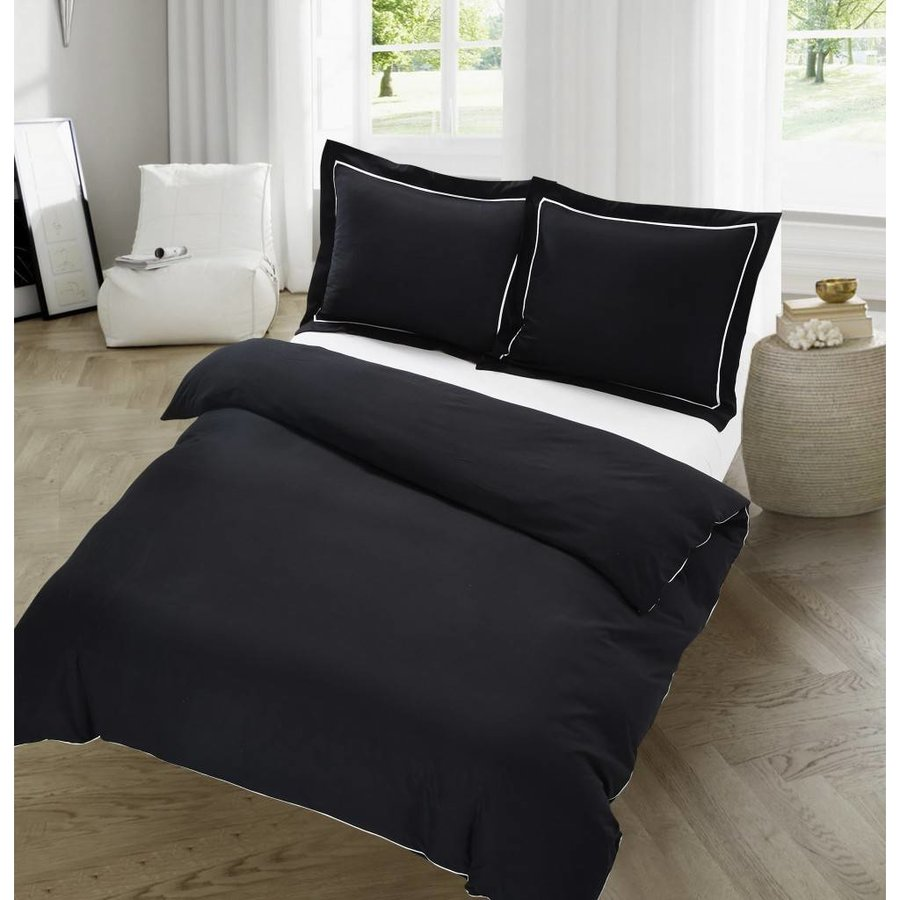 The Luxury Home Collection Dijon 140x200/220 +1-60X70 cm Black