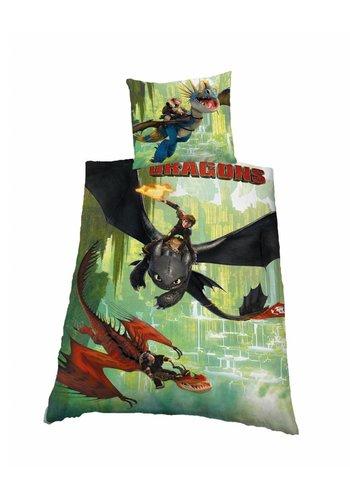 Dreamworks Dekbedovertrek licentie Dragons fire