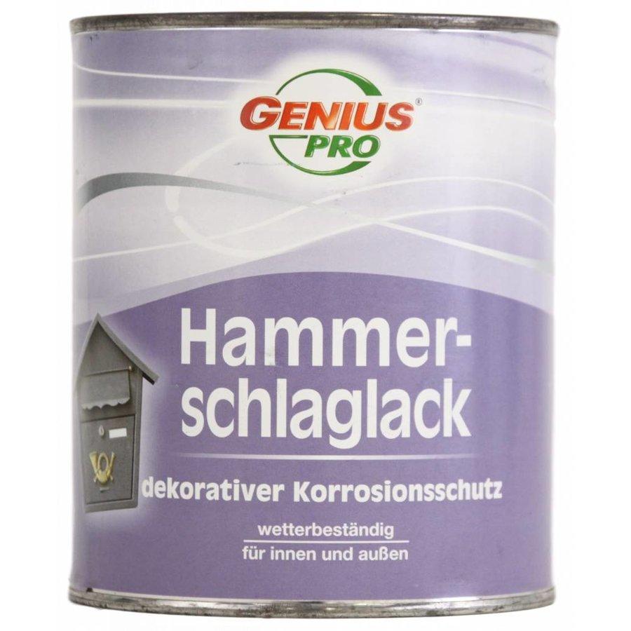 Hamerslag - metaallak - blauw- 750 ml