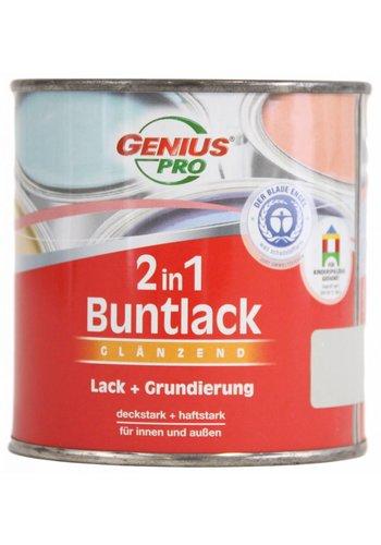 Genius Pro Hoogglans 2 in 1 verf - klei bruin - 125 ml