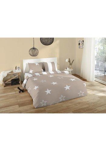 Nightsrest Dekbedovertrek Nightsrest  Flanel Stars 135x200cm + 1 Kussensloop 80x80cm