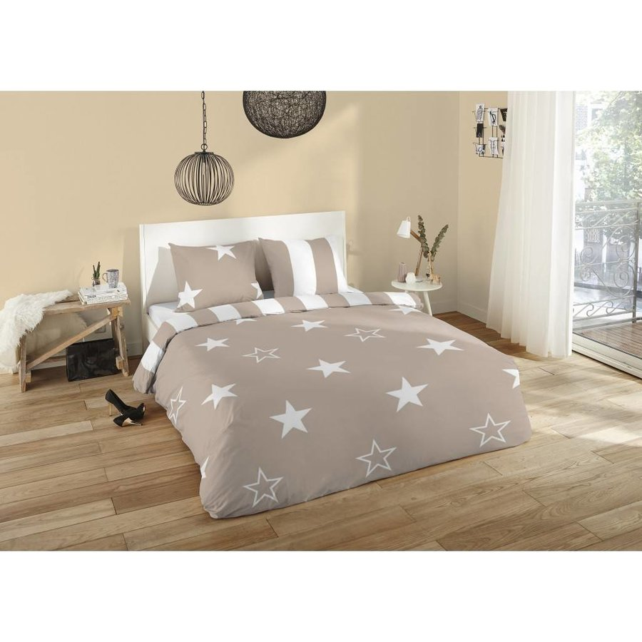 Bettbezug Nightrest Flanellsterne 135x200cm + 1 Kissenbezug 80x80cm