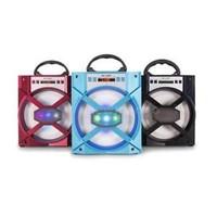 Bluetooh Lautsprecher - LED-Licht - rot