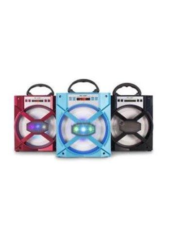 Neckermann Haut-parleur Bluetooh - LED - rouge