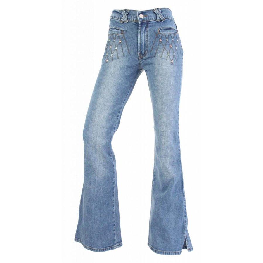 Damen Jeans Regular Fit - hellblau