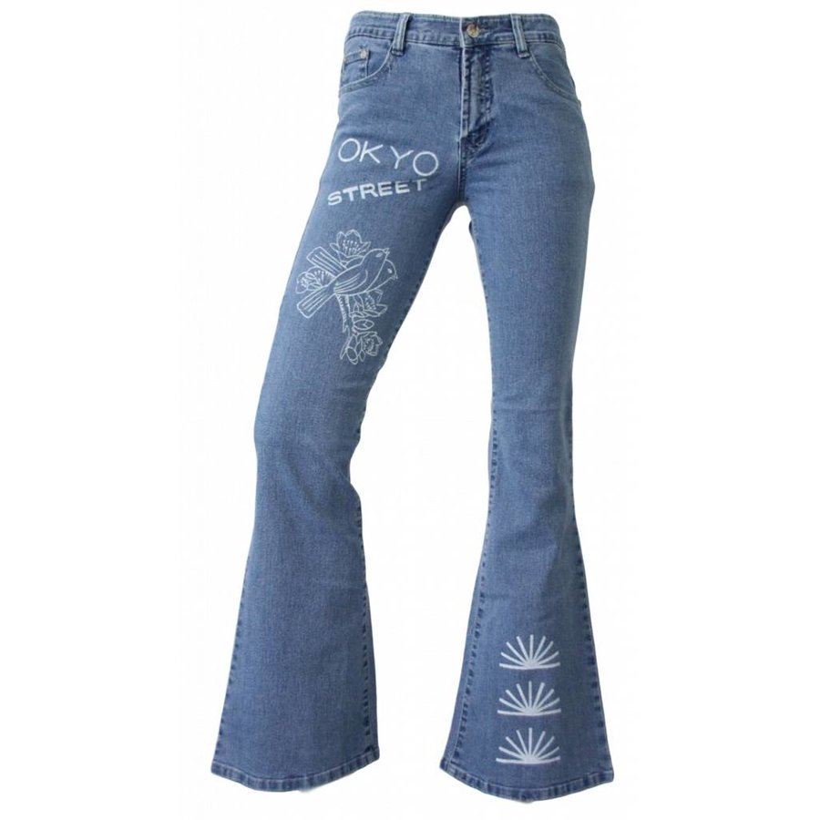 Damen Jeans Regular Fit - blau