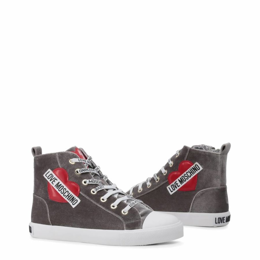 Damen Turnschuhe Love Moschino Grey