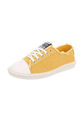 Neckermann Dames Sneakers laag - geel