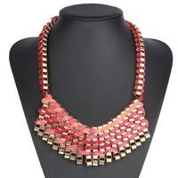 Damen Halskette - pink