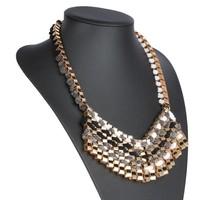 Damen Halskette - grau