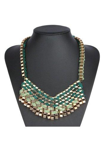 Neckermann Damen Halskette - grün