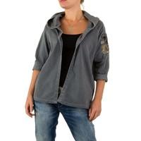 Damen Sweatjacke von Carla Giannini Gr. one size - grey