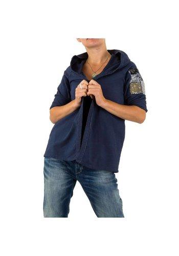 CARLA GIANNINI Dames Sweatjack van Carla Giannini one size - Donker Blauw