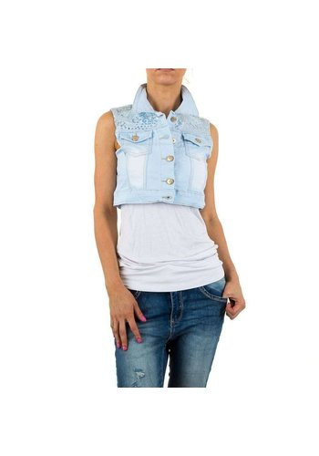 ACCESTAR DENIM Damen Gilet von Acestar Denim - L.blue