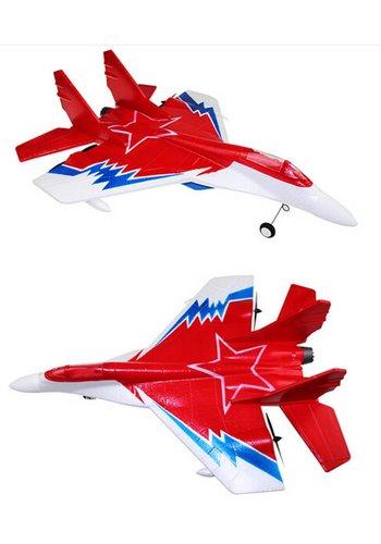 Neckermann Straaljager - stuntvliegtuig - 2.4GHz - rood