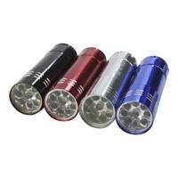 Zaklamp - LED - aluminium - 8 cm - assorti