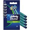 Gillette Gillette Blue II Plus Rasierklingen Satz von 5 Slalom