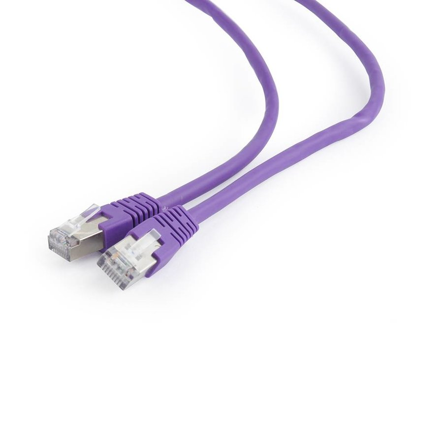 FTP Cat6 Patch cord, purple, 1 m