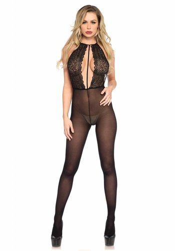 Neckermann Lingerie Halter key hole bodystocking