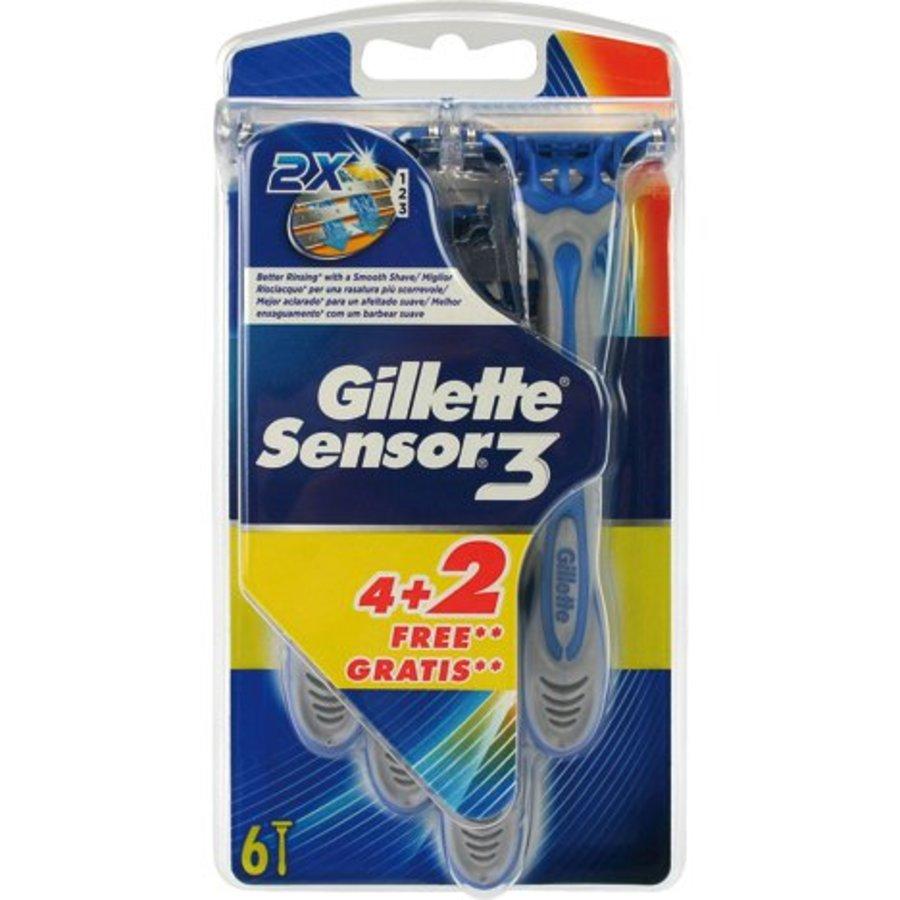 Gillette Sensor 3 Einweg Menschen 4 + 2 frei