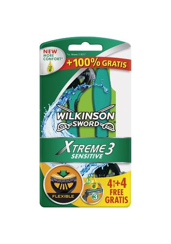 Wilkinson Set de rasage Wilkinson Extreme 3 Sensitive 6 + 2