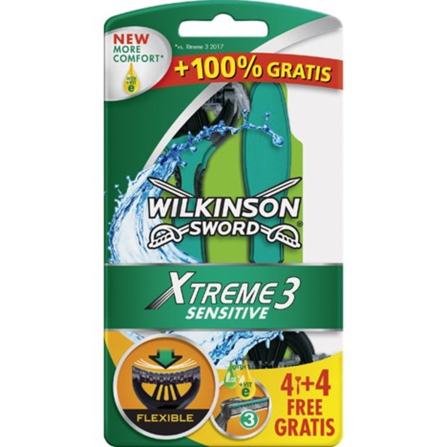 Wilkinson Rasierset Extreme 3 Sensitive 6 + 2