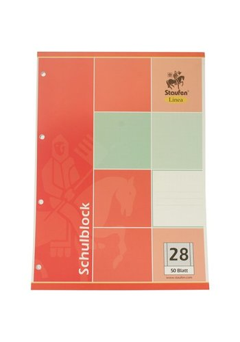 Staufen Schreibblock DIN A4 50 Bl. Quadrate Papier 28+ 4x Binder Löcher