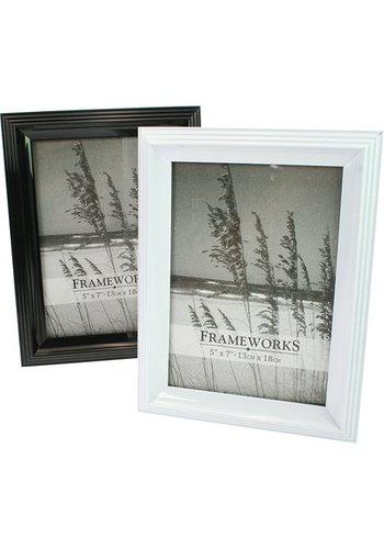 Frameworks Fotolijst Zwart of Wit  Voor Foto Maat 13x18cm