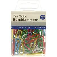 Büroklammern 100 Stück in PVC-Box 2,8 cm gefärbt