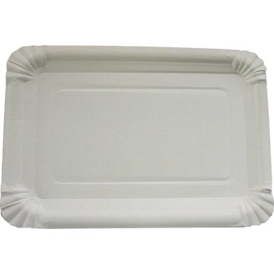 Assiettes de fête - 10 pièces - 6x23cm - blanc