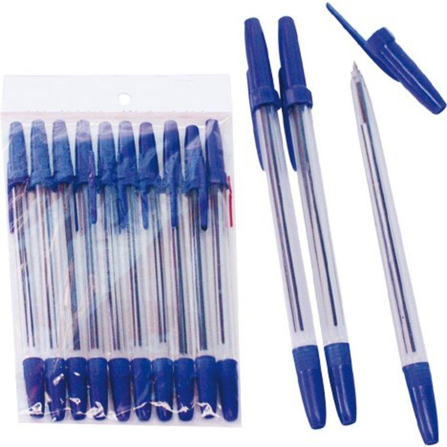 Kugelschreiber 10 Stück 15,5 cm Blau