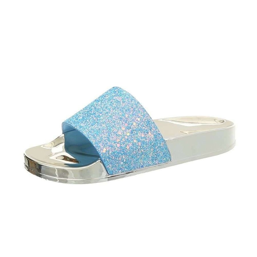 Damen Hausschuhe - blau