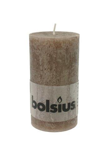 Bolsius Bougie rustique moignon 130x68 taupe