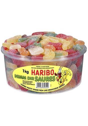 Haribo Haribo Rondedoos  Gekleurde zure vruchtenmix  1kg