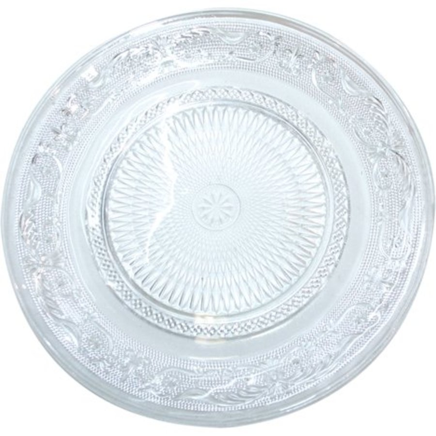 Glasplatte für Dessertteller von 22,5 cm mit geprägter Struktur
