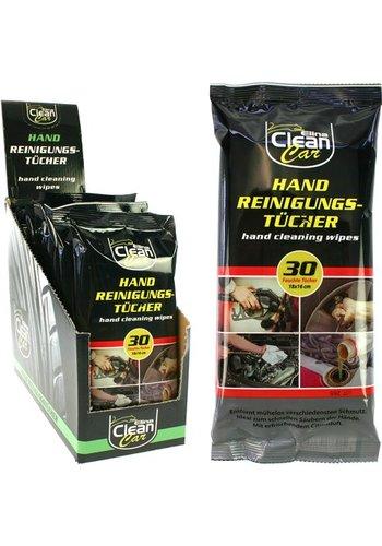 Clean Auto Feuchttücher CLEAN 30er Handreinigung 18x16