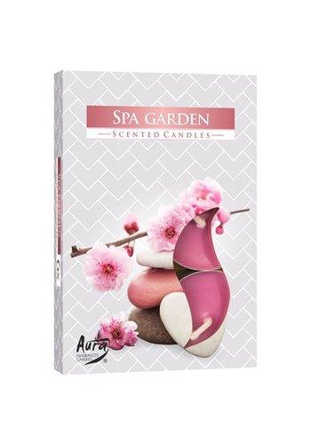 Aura Teelicht mit Aroma Duft Duft 6 Stück Spa Garten