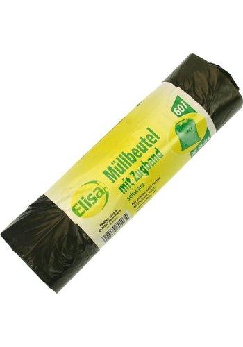 Elisa Abfallsäcke - 60 Liter - 62x72cm mit Verschlussband - 20 Stück pro Rolle