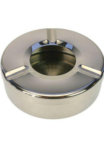 Neckermann Cendrier en acier inoxydable 11x3,5cm