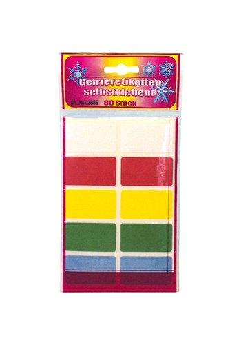 Neckermann Vriezer etiketten 80 Stuks  diverse kleuren