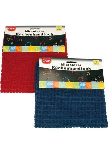 Clean Keukenhanddoek Microfiber 40x60cm ruitpatroon