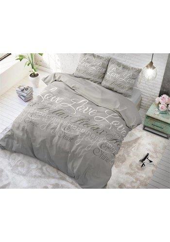 Sleeptime Dekbedovertrek Love and Relax Taupe