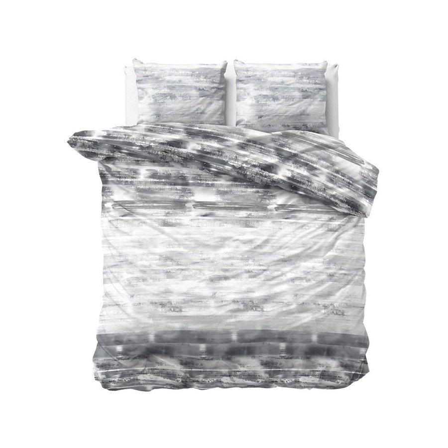 Bettbezug Shibori Fliesen Anthrazit