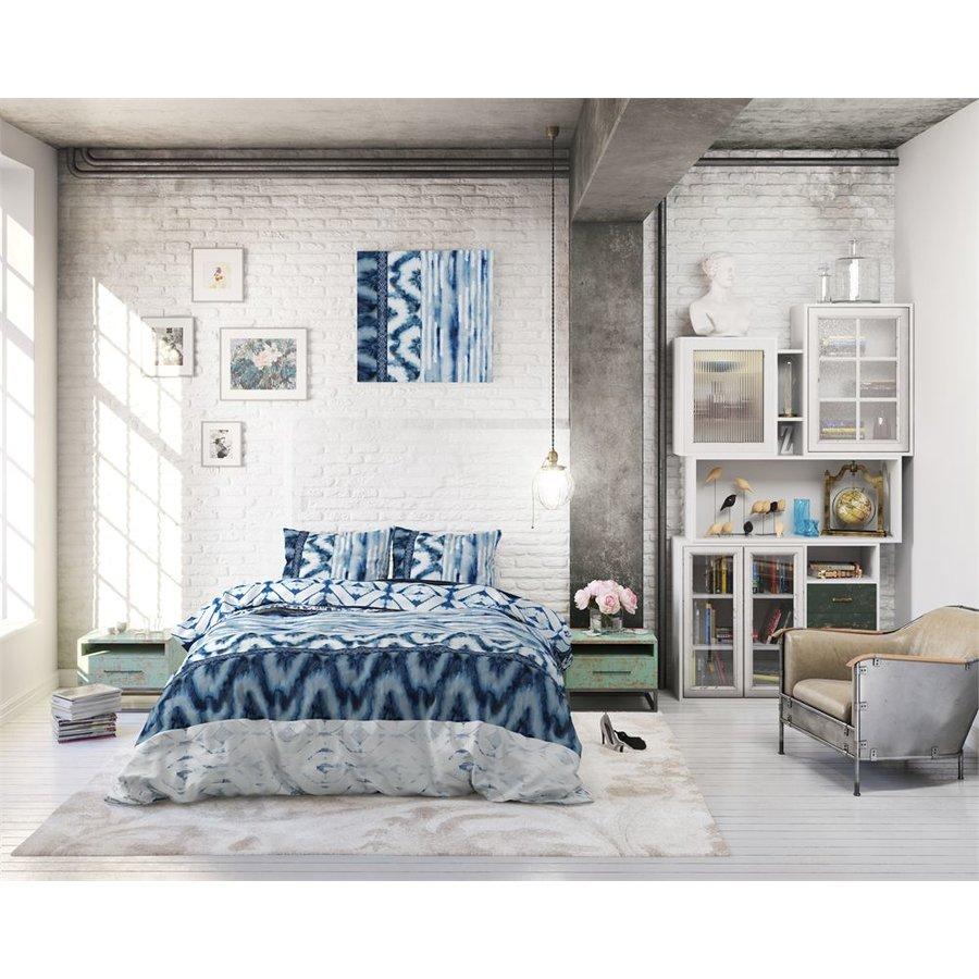 Bettbezug Shibori Retro Blau