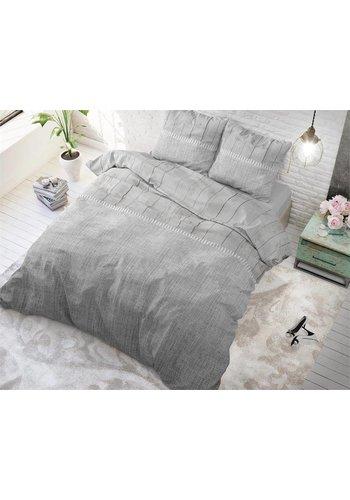 Sleeptime Dekbedovertrek Wood Fabric grijs