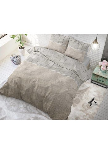 Sleeptime Dekbedovertrek Wood Fabric taupe